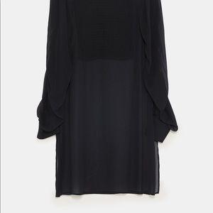 Zara tunic top size M black